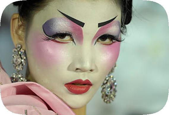 maquillaje geisha fantasia,juego para chica. gay parejas